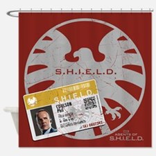 Agents of Shield Badge Shower Curtain