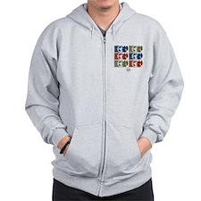 S.H.I.E.L.D. Symbols Zip Hoodie