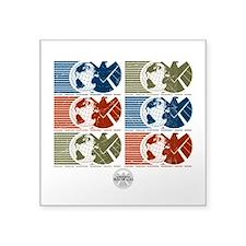 "S.H.I.E.L.D. Symbols Square Sticker 3"" x 3"""