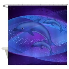 Dolphin Family Shower Curtain