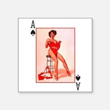 "Sexy Pin Up Square Sticker 3"" x 3"""