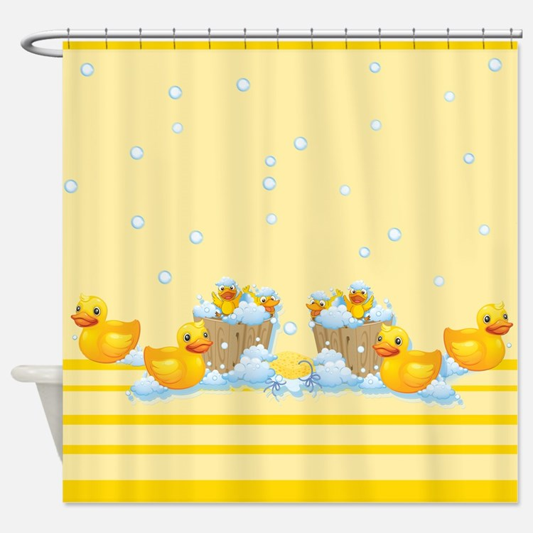 Duck Cute Shower Curtains Duck Cute Fabric Shower Curtain Liner