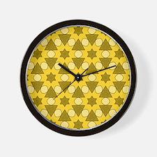 Pattern Chris golden Wall Clock