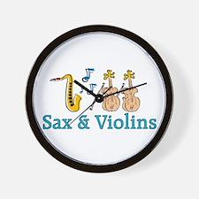 Sax & Violins Wall Clock
