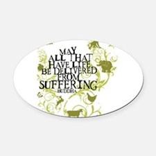 Funny Animal rights Oval Car Magnet