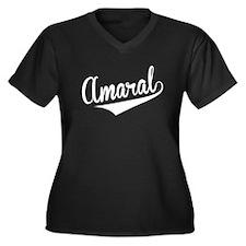Amaral, Retro, Plus Size T-Shirt