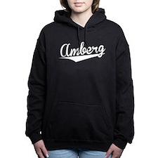 Amberg, Retro, Women's Hooded Sweatshirt