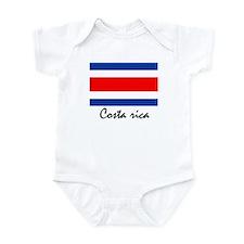 Costa rican flag Infant Bodysuit