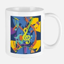 Bright Abstract music design Mugs
