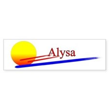 Alysa Bumper Car Sticker