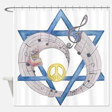 Peace Beats Shower Curtain