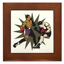 Boxing Knockout Fight Framed Tile