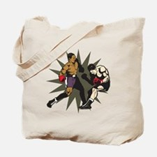 Boxing Knockout Fight Tote Bag