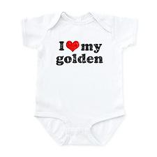 I love my Golden Retriever Infant Bodysuit