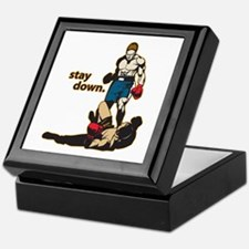 Stay Down Boxing Keepsake Box