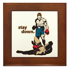 Stay Down Boxing Framed Tile