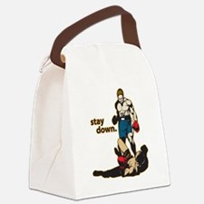 Stay Down Boxing Canvas Lunch Bag