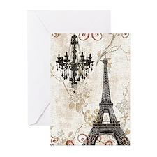 chandelier modern paris eiffel tower art Greeting