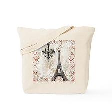 chandelier modern paris eiffel tower art Tote Bag