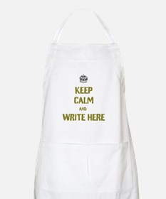 Keep Calm customisiable Apron