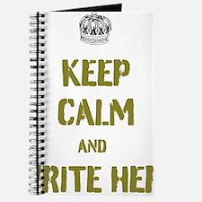 Keep Calm customisiable Journal