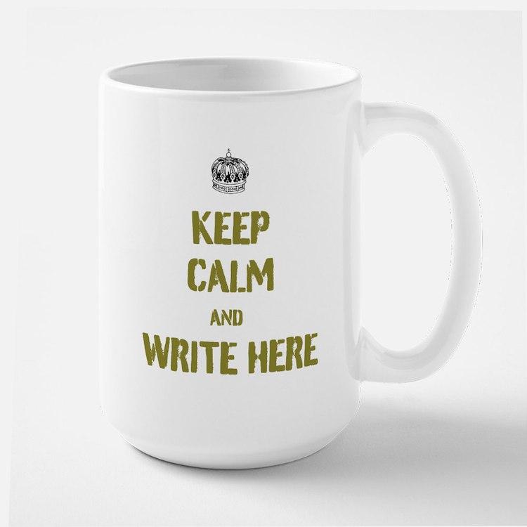 Keep Calm customisiable Mugs