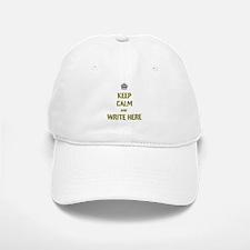 Keep Calm customisiable Baseball Baseball Cap