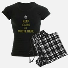 Keep Calm customisiable pajamas