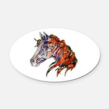 Wild Horse Oval Car Magnet