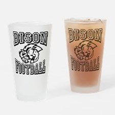 Bison Football Drinking Glass