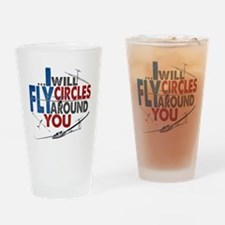 Glider Pilot Boasting Drinking Glass