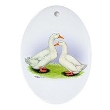 Pekin Ducks Oval Ornament