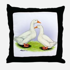 Pekin Ducks Throw Pillow