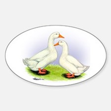 Pekin Ducks Oval Decal