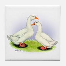 Pekin Ducks Tile Coaster