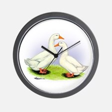 Pekin Ducks Wall Clock
