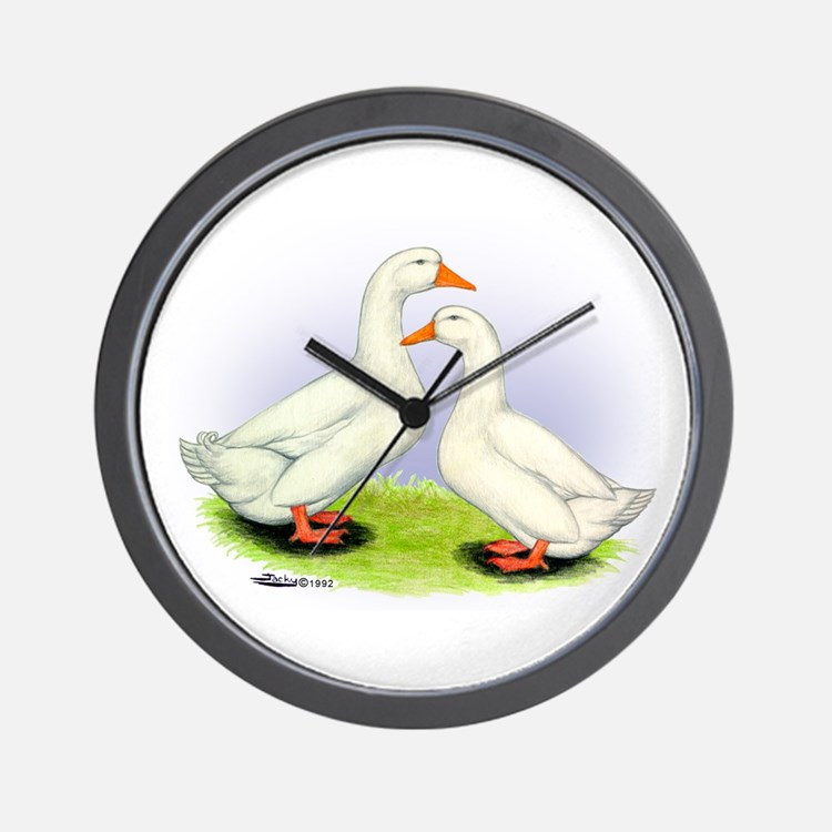 Pekin Ducks Wall Clock