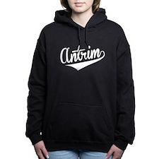 Antrim, Retro, Women's Hooded Sweatshirt