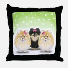 The Pom sisters Throw Pillow