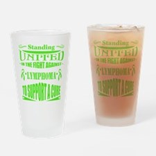 Lymphoma United Drinking Glass