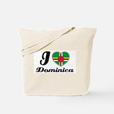 I love Dominica Tote Bag