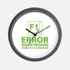 Error No Keyboard Press F1 To Continue Wall Clock