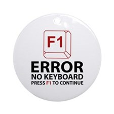 Error No Keyboard Press F1 To Continue Ornament (R