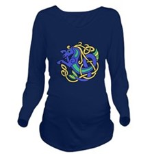 Celtic Hippocampus 2 Long Sleeve Maternity T-Shirt