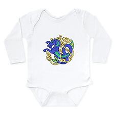 Celtic Hippocampus 2 Long Sleeve Infant Bodysuit