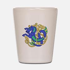 Celtic Hippocampus 2 Shot Glass