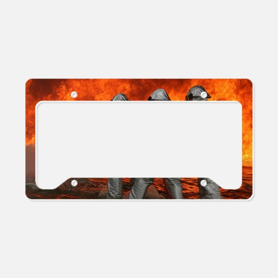 Firefighter Personalized License Plate Frames Covers And