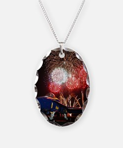 Blue Angels Fireworks Necklace