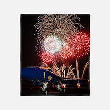 Blue Angels Fireworks Throw Blanket