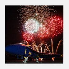 Blue Angels Fireworks Tile Coaster